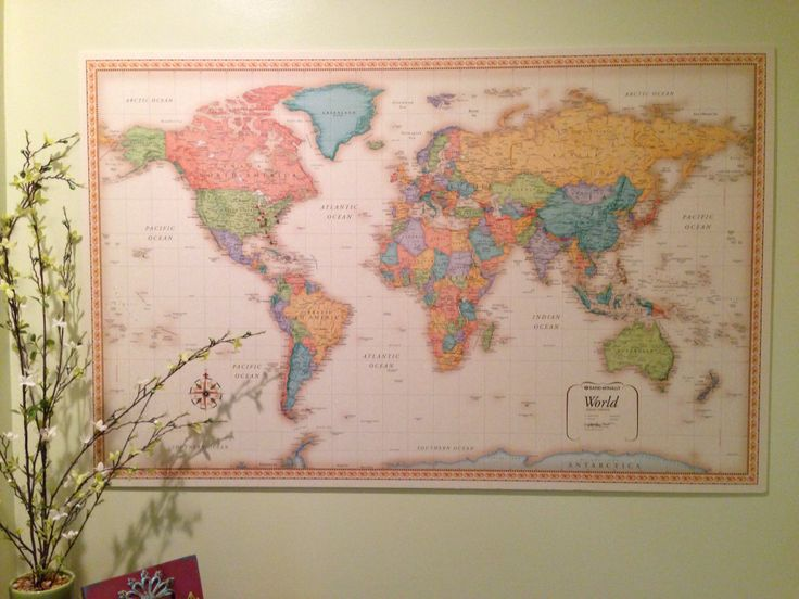 47 best office decorating images on pinterest decorations homes diy framed world map with pins hamonious at besttabletfor gumiabroncs Gallery