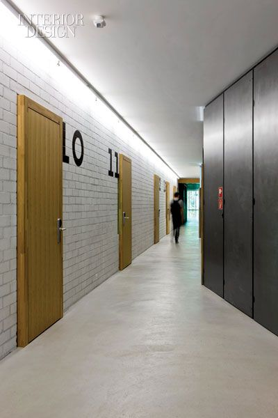 Hostel in basel switzerland architecture interior for Hotel corridor decor