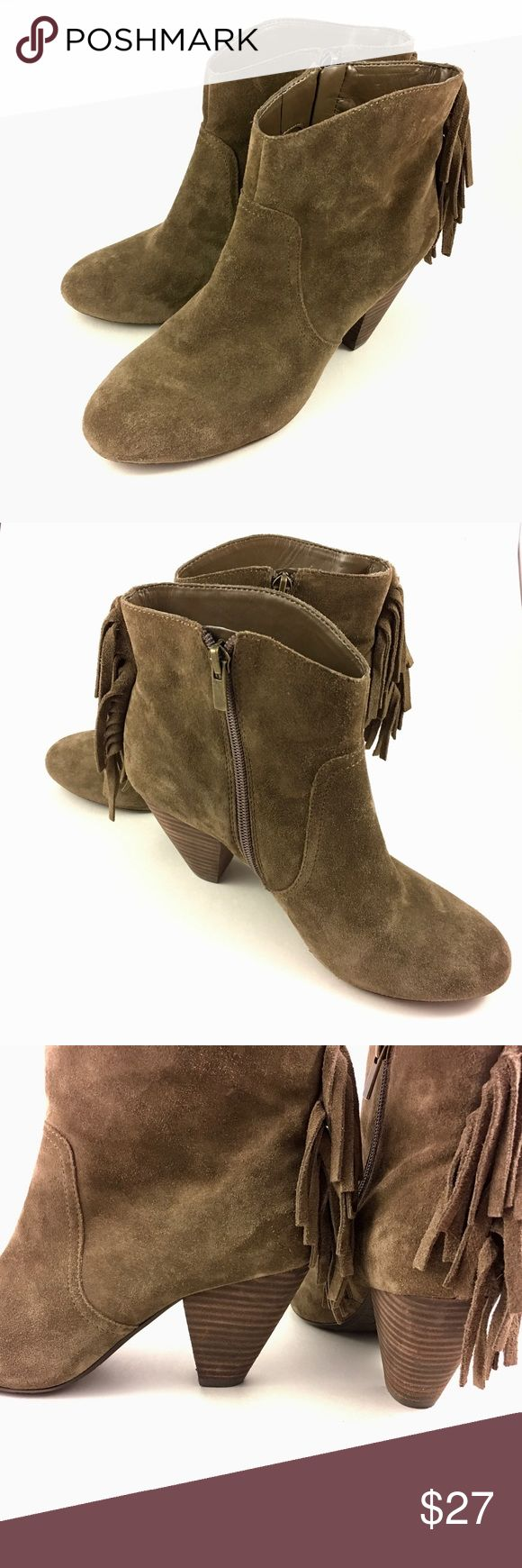🔅JESSICA SIMPSON Suede Fringe Ankle Boots🔅 Super stylish Jessica Simpson fringe Suede ankle boot. Only worn a couple times. Color is Brown. Very comfortable and they look cute with almost anything! Jessica Simpson Shoes Ankle Boots & Booties