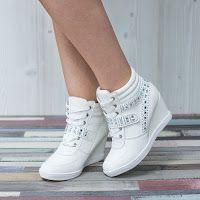 Sneakers dama Yvette albi confortabili • modl