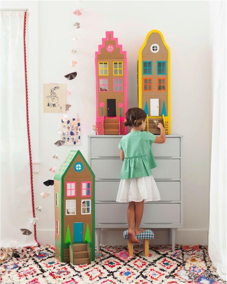 """""""DIY cardboard dolls house"""""""