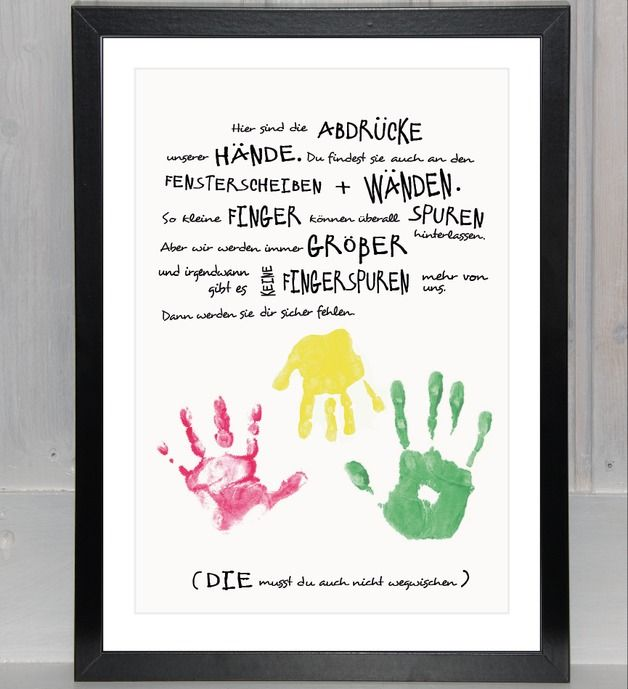 """Bilder - Handabdruck - Geschwister: """"Unsere Hände f... - ein Designerstück von beiwerk bei DaWanda"""