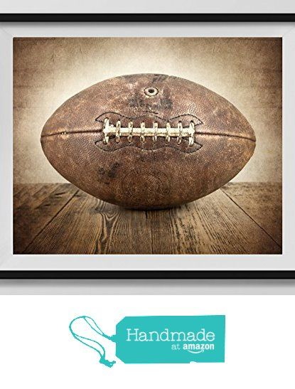 Vintage Football On Background Fine Art Photography Print Sports Decor Nursery
