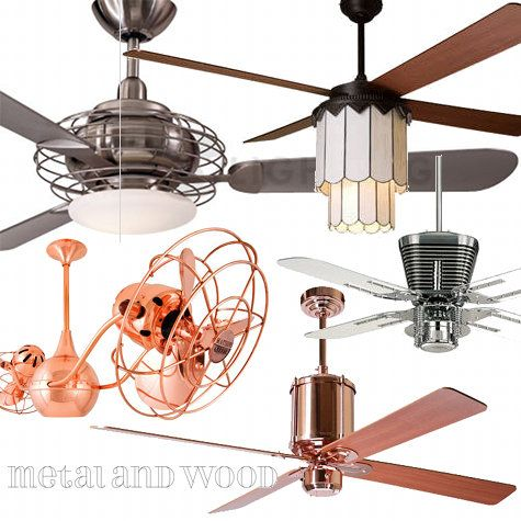 d*s ceiling fan roundup: love that copper/rose gold one!