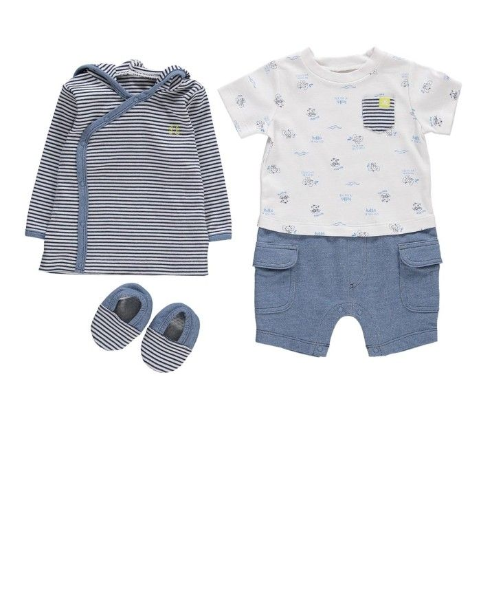 Indigo Jacket Set 3 Piece