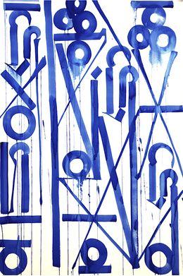 Retna, 'Sunrisas Azules,' 2014, New Image Art Gallery