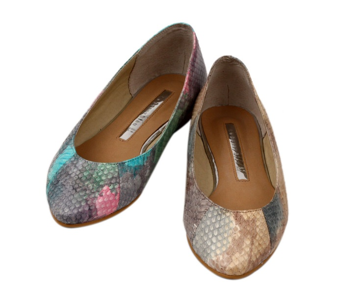 Summer Lizard Ballet Flats from Le Bunny Bleu. Hello multi-colored snakeskin! ps. as far as cute flats go, the site has some of the best!