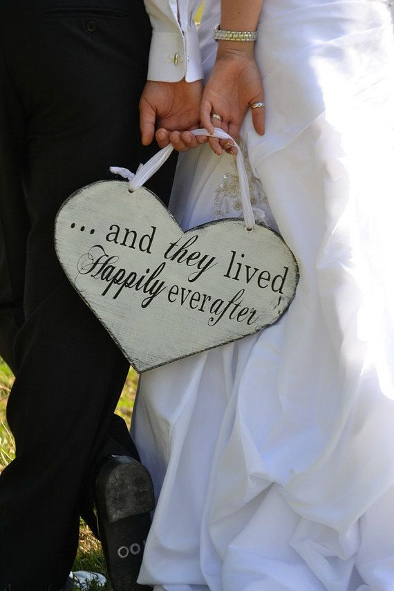 Wood Wedding Sign Here Comes the Bride with by OurHobbyToYourHome