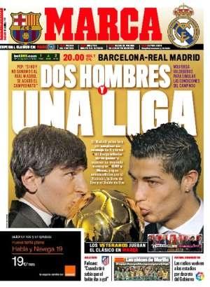 Portadas prensa Deportiva sobre el  Clásico: http://www.elenganche.es/prensa