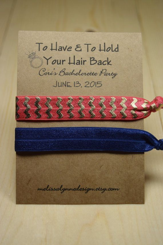 Elastic Hair Tie//Creaseless Hair Tie//Bachelorette Party Favors//To Have & To Hold Your Hair Back