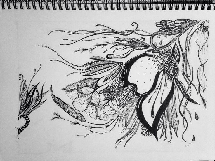 Floral storm doodle