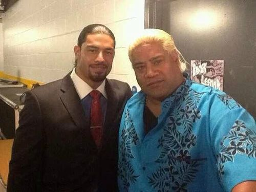 Roman Reigns (Joe Anoa'i) & his uncle Rikishi Phatu (Solofa Fatu)