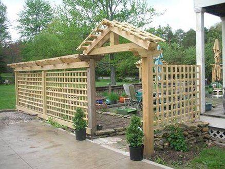 patio trellis enclosure