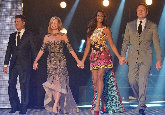 Britain's Got Talent judges Simon Cowell, Amanda Holden, David Walliams and Alesha Dixon