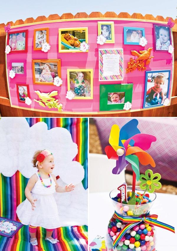 Colorful Bird Party {Rainbow First Birthday}