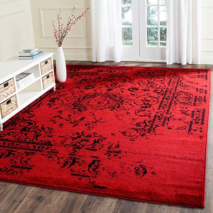 Adirondack Red/Black 9 Ft. X 12 Ft. Area Rug Part 39