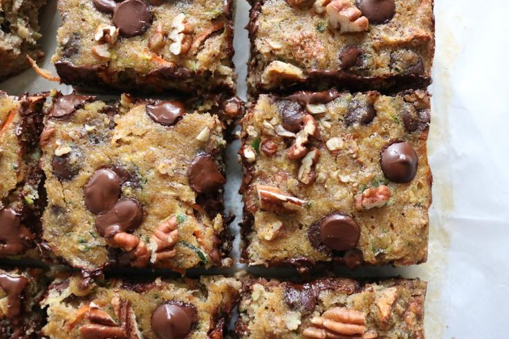 Chocolate Chip Zucchini Squares - The Toasted Pine Nut