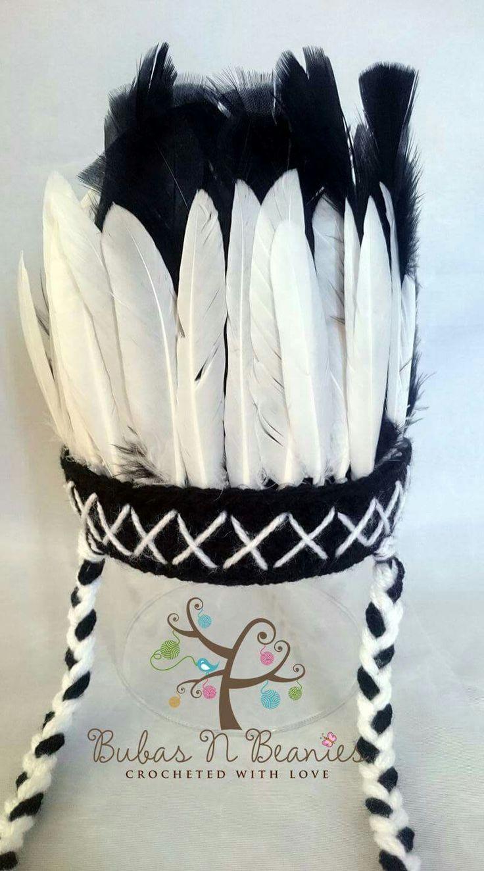 Crochet Indian headdress