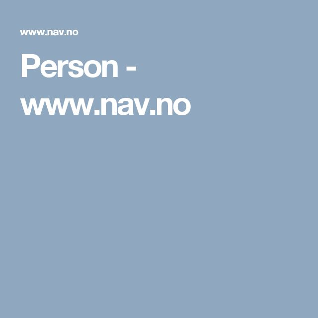 Person - www.nav.no