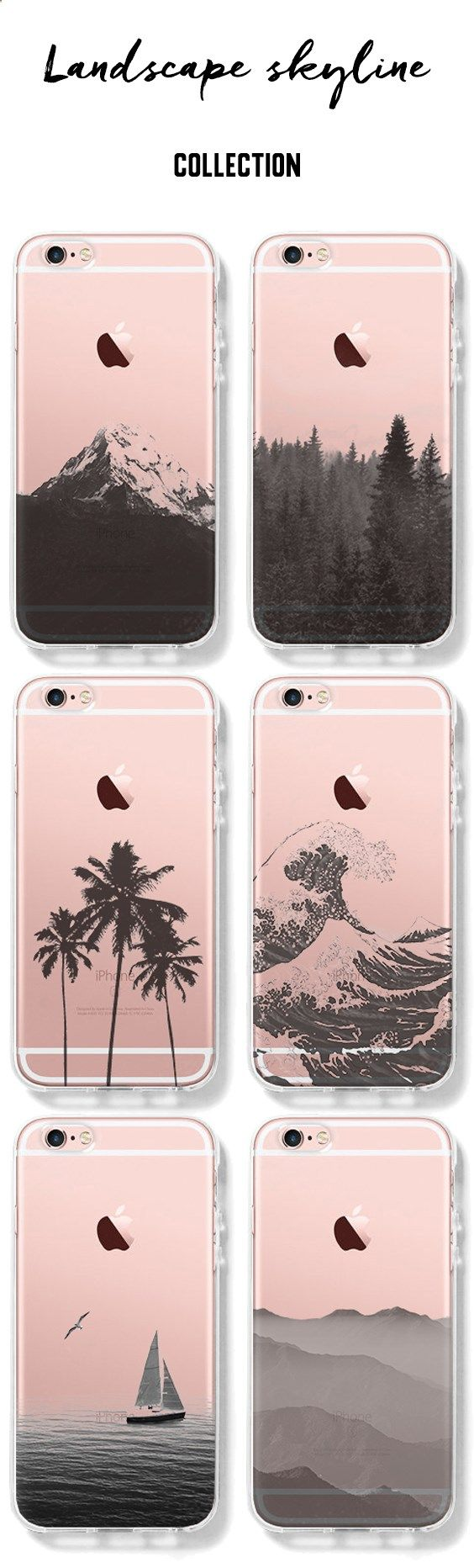 Phone Cases - Stylish Landscape iPhone Clear Case for 6S/6/Plus/SE/5S/5/5C Landscape-Collection