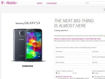 T-Mobile Samsung Galaxy S 5 Sweepstakes