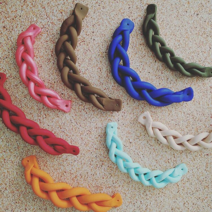 Clay braided statement necklaces