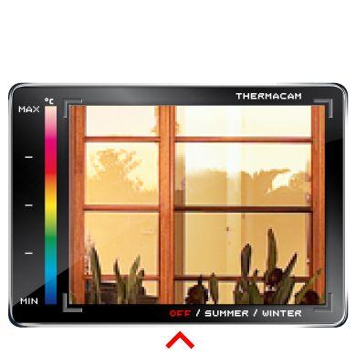 Thermal camera showing regular glass windows.