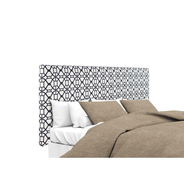 mjl furniture alice noah windsor black and white upholstered headboard california king