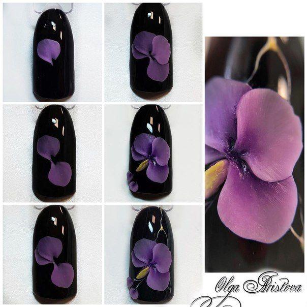 Орхидеи на ногтях шеллаком фото пошагово убранная прическа