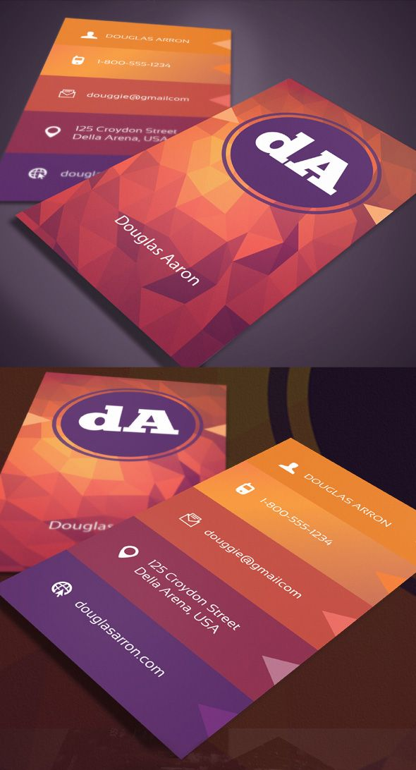 Polygonal business card template - personalize your own!