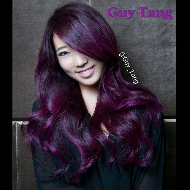 Purple hair don't care #balayage @Christine Hsu