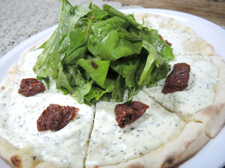 Goat Cheese and Herbs Pizza