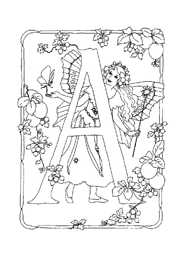 Coloriage Alphabet Fee A Sur Hugolescargot