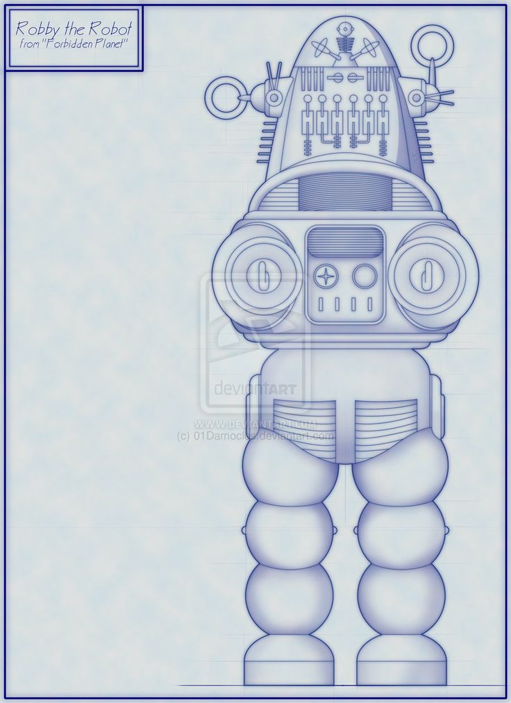 10 best projects robby the robot images on pinterest robot blueprint malvernweather Images