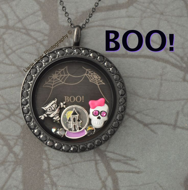 Origami Owl - #Halloween #witch locket. Add other Halloween charms to this locket at https://kellib.origamiowl.com/