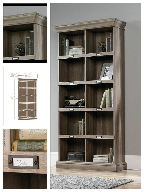 Office Bookcase Storage Library Barrister Home Furniture Living Room Bookshelf…