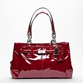 Red patent leather Coach purse - my favorite color!!