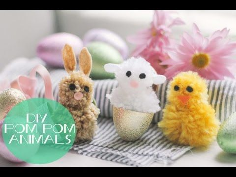 How to make pom pom animals for Easter! Visit eHow for the step-by-step tutorial: http://www.ehow.com/how_5386758_make-animals-out-pom-poms.html