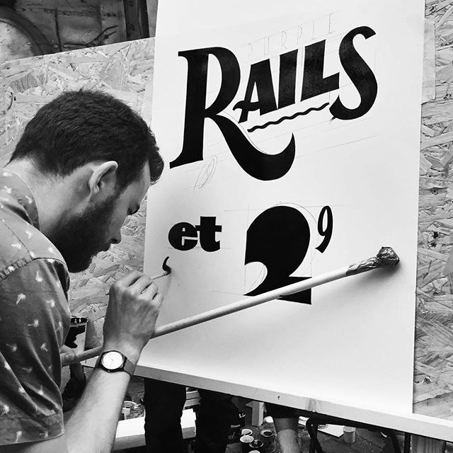 "Copenhagen Signs ❦ Est. 2015 | @copenhagensigns ""Going through my pictures from the Letterhead Meet in Amsterdam and found this one. Anyone know who it is? Love this! Edit: This is @oliver_vinwyn slinging paint here ❦ #Letterheads #Signpainting #Signpainter #Signwriting #Signwriter #Lettering #Handlettering #AlwaysHandpaint #GoodTimes #ThrowbackTuesday #AmsterdamLetterheads"""