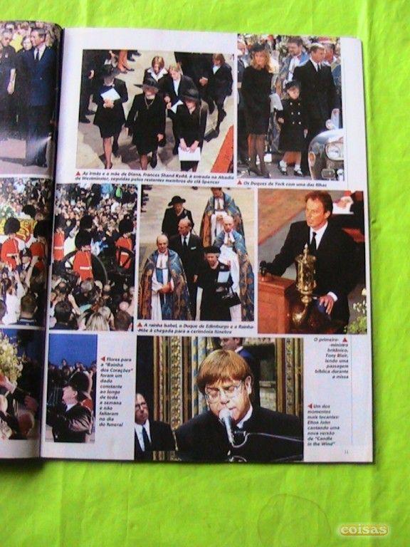 Funeral da Princesa Diana na TV Guia.