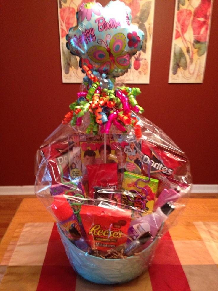 Teen girl Birthday basket. | gift basket ideas | Pinterest | Teen Girl ...: https://www.pinterest.com/pin/431219733041318836