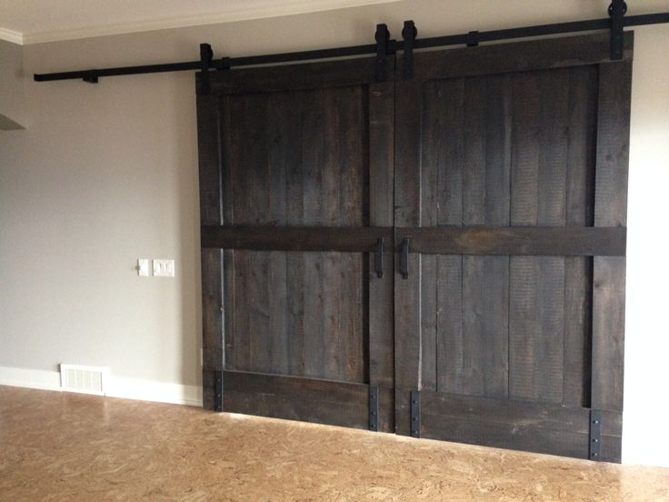 Solid bi-parting barn doors handmade in Vernon BC by GOATGEAR. Tongue and grooved & 113 best Interior Sliding Barn Doors images on Pinterest | Interior ...