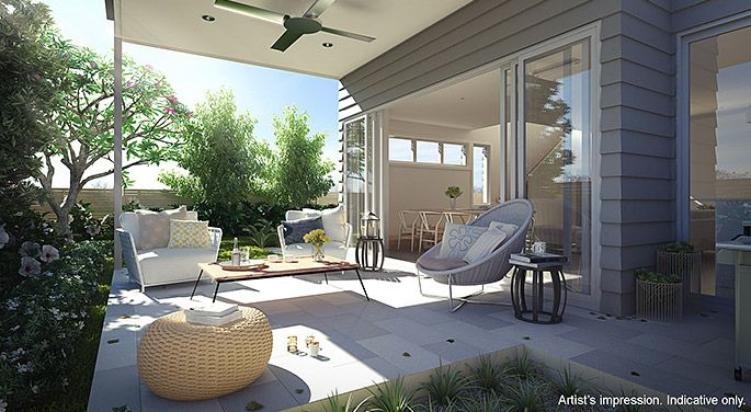Outdoor living space.  The coastal location provided the perfect blank page for Arkee Interior Designers to source inspiration and reflect a modern innovative Australian design.   See more Arkee Creative work at www.arkee.com.au we love the blank page.