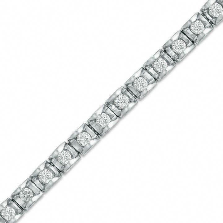 Zales 1 1 2 Ct T W Diamond Tennis Bracelet In 14k White Gold J I2 Tennisbracelets Dia Sparkly Bracelets Bracelets Gold Diamond Beautiful Jewelry Bracelet