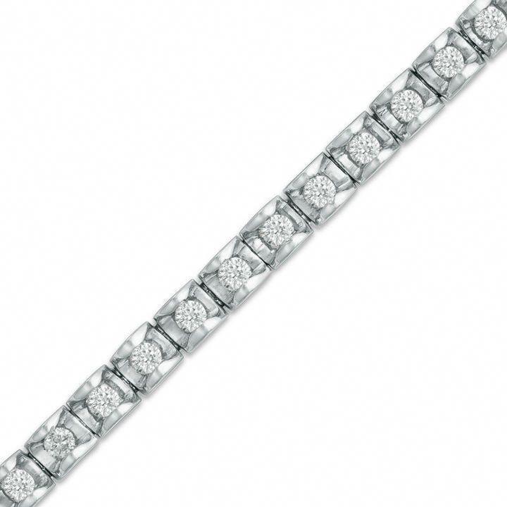 Zales 1 1 2 Ct T W Diamond Tennis Bracelet In 14k White Gold J I2 Tennisbracelets Dia Sparkly Bracelets Bracelets Gold Diamond Beautiful Jewelry Bracelet