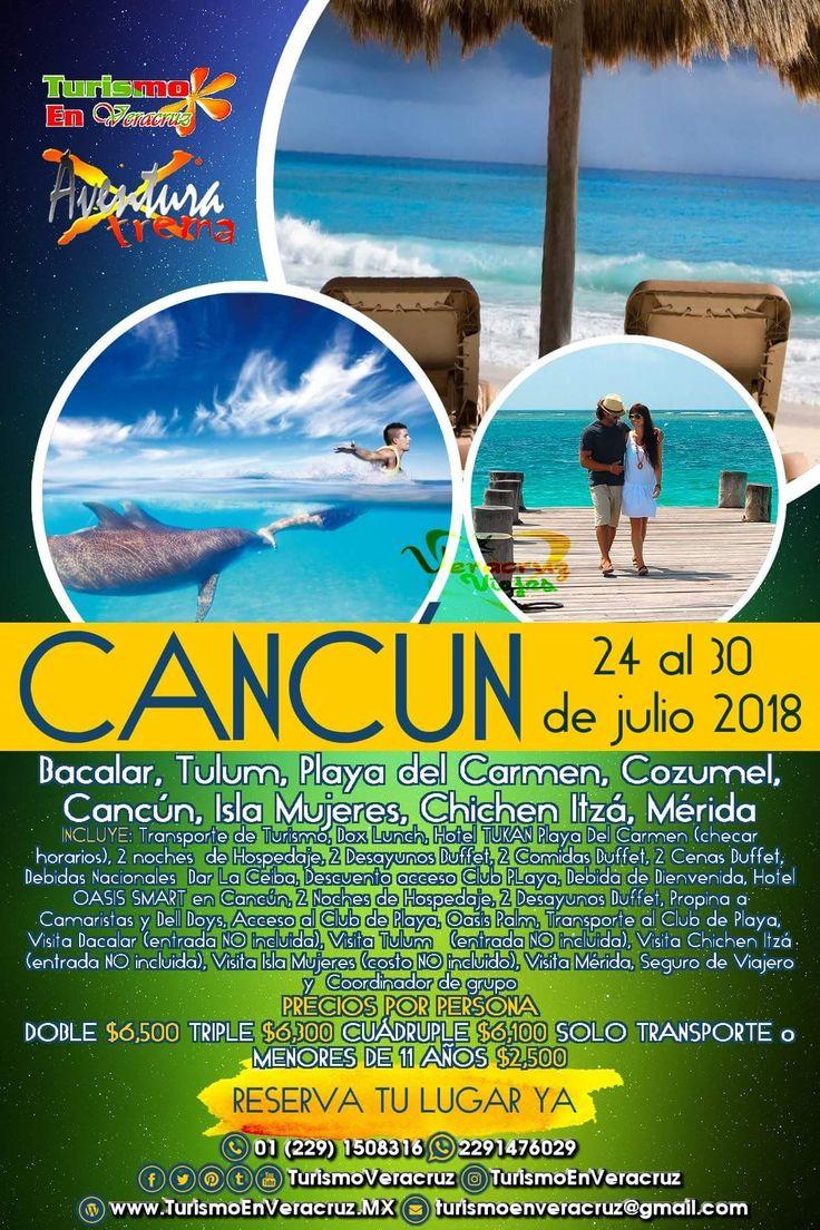 #Excursión a #Cancún saliendo desde #Veracruz este 24 de julio no te quedes fuera aparta tu lugar Oficina 01 (229)1508316 WhatsApp 2291476029 http://www.veracruztour.com/hoteles.htm #playadelcarmen #bacalar #tulum #cozumel #islamujeres #chichenitzá #Merida