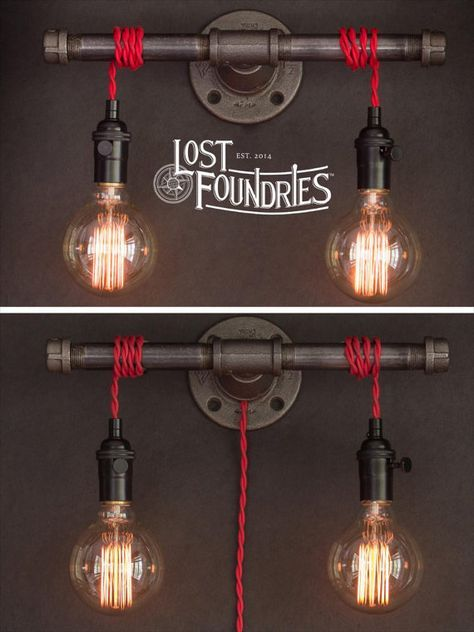 Bougeoir de tuyau industriel de Wilbur par LostFoundries sur Etsy Plus