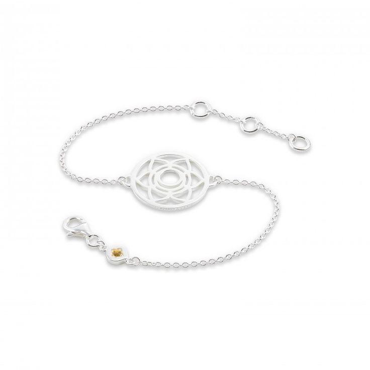 Daisy London Silver Sacral Chakras Chain Bracelet CHKBR1009