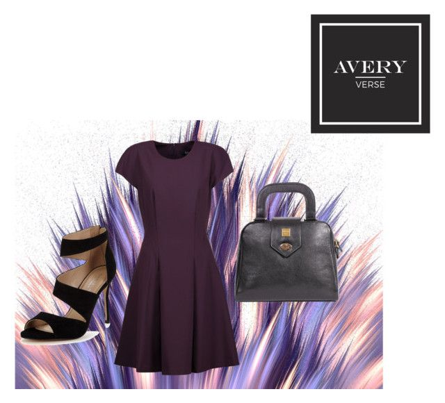 """""""The Ballad in Black by Avery Verse Bag Co."""" by averyverse ❤ liked on Polyvore featuring Badgley Mischka, Carvela, handbags, handcrafted and averyverse"""