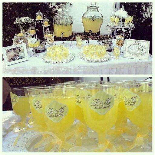 Düğünler için limonata ve mojito büfesi...